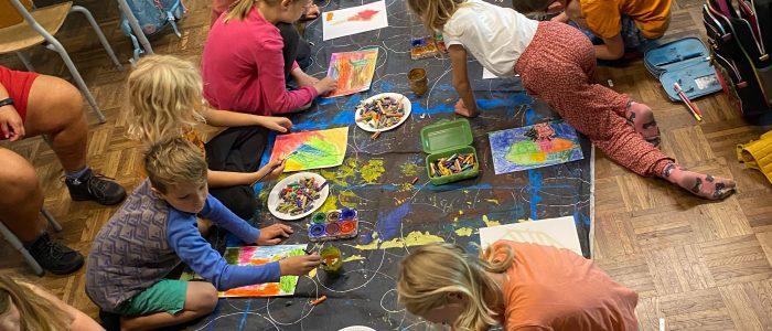 Billedkunst på børnenesfriskole i Risskov